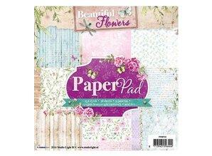 Studio Light Paper pad, Beautiful Flowers Theme