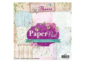 Studio Light Papir pad, Beautiful Flowers Tema
