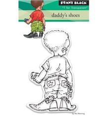 Penny Black timbro trasparente: le scarpe di papà