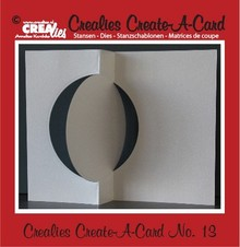 Crealies und CraftEmotions Crealies Opret en kort nr. 13 for hulkort