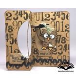 Elisabeth Craft Dies Troquelado y estampado en relieve plantilla: Pop encima de la tarjeta