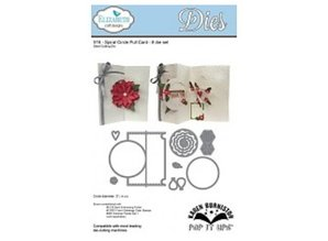 Elisabeth Craft Dies Punching and embossing template: Pop Up Card