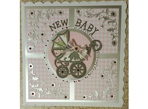 TONIC Punching and embossing template: stroller with ribbon