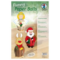 DeLuxe Bastelset 6 bolas de papel de Navidad