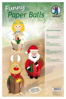 Exlusiv DeLuxe-Bastelset für 6 Weihnachtliche Paperballs