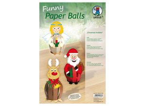 Exlusiv DeLuxe Bastelset 6 Christmas Paper Balls