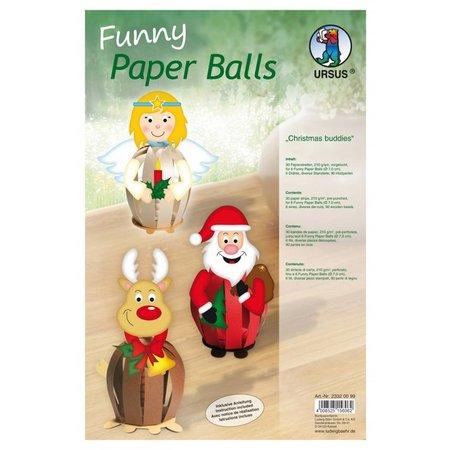 Exlusiv DeLuxe Bastelset 6 bolas de papel de Navidad