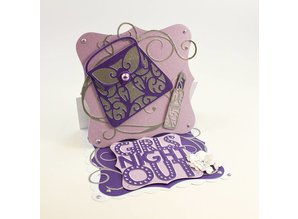 TONIC Punching and embossing template: Rococo Stylish Handbag