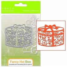 TONIC taglio e goffratura dado: filigrana Hat Box