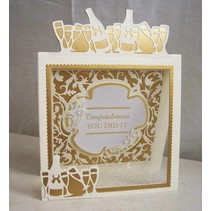 Punching and embossing stencil, set of 3 !!