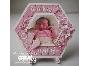 Crealies und CraftEmotions Punching and embossing template: baby, hands and feet