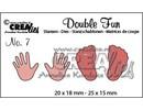 Crealies und CraftEmotions Stanz- und Prägeschablone: Baby, Händen und Füßen