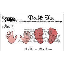 Punching and embossing template: baby, hands and feet