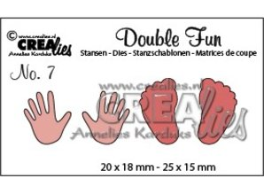Crealies und CraftEmotions Stansning og prægning skabelon: Baby, hænder og fødder