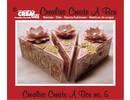 Crealies und CraftEmotions Stansning og prægning skabelon for et stykke kage kasse