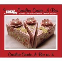 Stansning og prægning skabelon for et stykke kage kasse