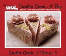 Crealies und CraftEmotions modello di punzonatura e goffratura per un pezzo di torta scatola