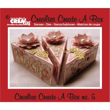 Crealies und CraftEmotions Stanz- und Prägeschablone für eine Stückkuchen Schachtel