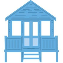 Stanz- und Prägeschablone: Strandhaus