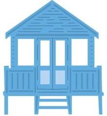 Marianne Design Punzonatura e goffratura modello: casa sulla spiaggia