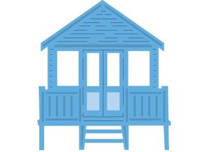 Marianne Design Troquelado y estampado en relieve plantilla: casa en la playa