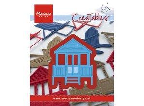 Marianne Design Stansning og prægning skabelon: strandhus