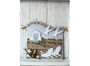 Marianne Design Punching and embossing template: beach house