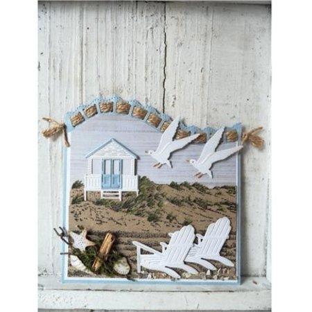 Marianne Design Stanz- und Prägeschablone: Strandhaus