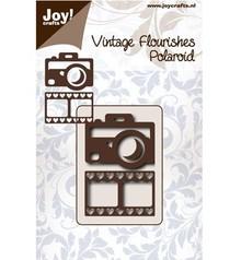 Joy!Crafts und JM Creation Stansning og prægning skabelon: Kamera og filmstrimlen med hjerte