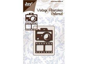 Joy!Crafts und JM Creation plantilla de perforación y en relieve: Cámara y tira de la película con el corazón