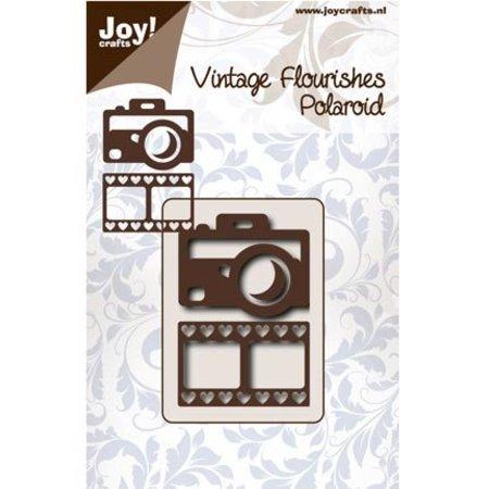 Joy!Crafts und JM Creation Stanz- und Prägeschablone: Kamera und Filmstreifen mit Herzen