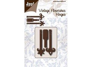 Joy!Crafts und JM Creation Troquelado y estampado en relieve plantilla: bisagras