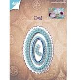 Joy!Crafts und JM Creation Estampación y cliché de estampado: marco decorativo ovalada