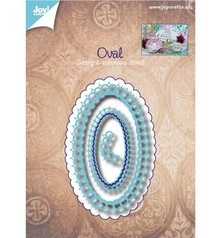 Joy!Crafts und JM Creation Stamping and embossing stencil: oval decorative frame