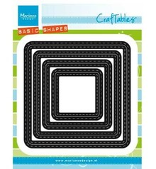 Marianne Design Punching and embossing template: BASIC mounts square