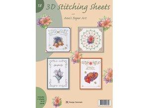 Bücher und CD / Magazines A4 libro Stickvorlage per 8 carte