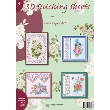 Bücher und CD / Magazines A4 boek Stickvorlage voor 8 kaarten