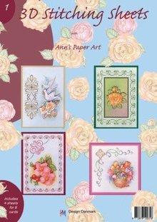 Bücher und CD / Magazines A4 bog Stickvorlage for 8 kort
