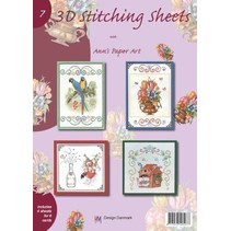 A4 bog Stickvorlage for 8 kort
