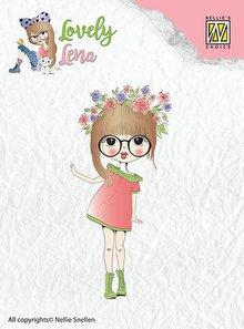 Nellie snellen timbro trasparente: Lena, corona di fiori