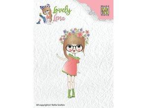Nellie snellen Transparent stempel: Lena, blomster krans