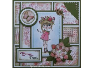 Nellie snellen Transparent stamp: Lena, floral wreath