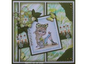 Nellie snellen Transparent stamp: Lena, animal lover