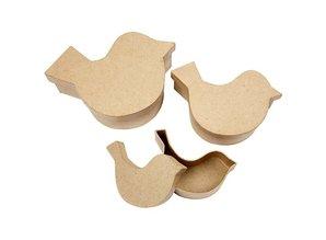 Objekten zum Dekorieren / objects for decorating 3 scatole a forma di uccello