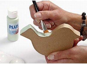 Objekten zum Dekorieren / objects for decorating 3 kasser i fugl formular