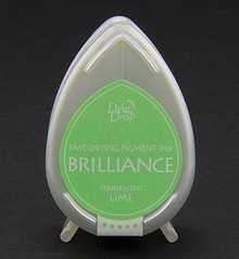 FARBE / INK / CHALKS ... Brilliance Dew Drop, Pearlescent Lime