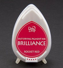 FARBE / INK / CHALKS ... Brilliance Dew Drop, Rocket Red