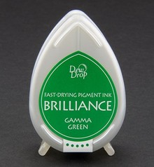 FARBE / INK / CHALKS ... Brilliance Dew Drop, Gamma Green