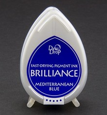 FARBE / INK / CHALKS ... Brilliance Dew Drop, blu del Mediterraneo