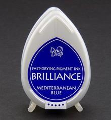 FARBE / INK / CHALKS ... Brilliance Dew Drop, Middelhavet blå